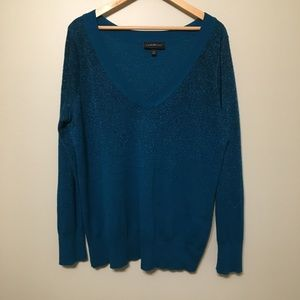 Lane Bryant Gorgeous Waterfall  Sparkle Sweater